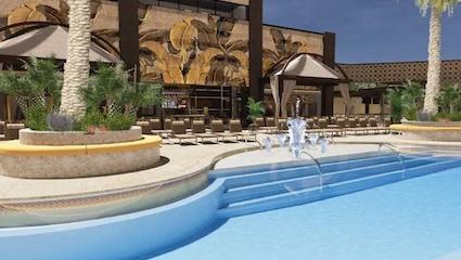 Famed Sahara pool on Las Vegas Strip gets splashy upgrade